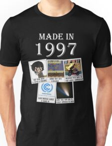 Made in 1997, main historical events Unisex T-Shirt