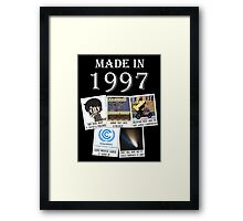 Made in 1997, main historical events Framed Print