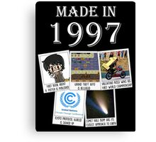 Made in 1997, main historical events Canvas Print