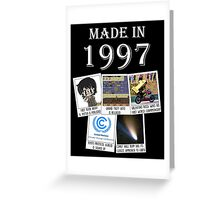 Made in 1997, main historical events Greeting Card