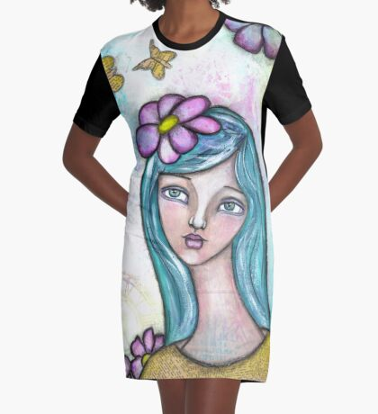 Heartfelt Girl - Daisy Graphic T-Shirt Dress