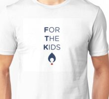 FOR THE KIDS NAVY FLAME Unisex T-Shirt