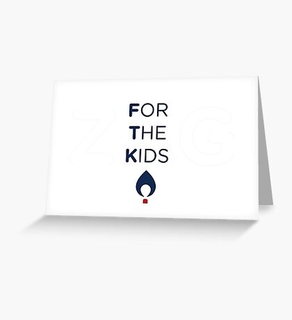FOR THE KIDS NAVY FLAME Greeting Card
