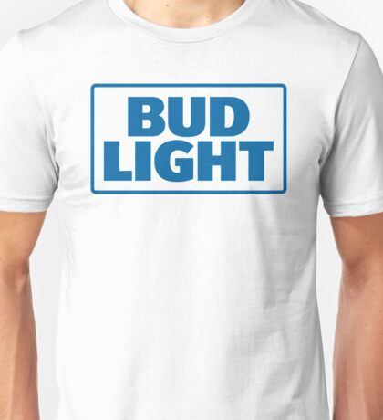 BLUE TEXT BUD LIGHT Unisex T-Shirt