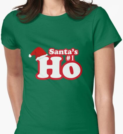 Santa's Number 1 Ho Womens Fitted T-Shirt