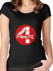 4 Minute Logo Women's Fitted Scoop T-Shirt