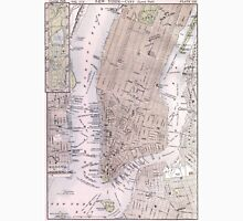 Vintage Map of New York City (1884) T-Shirt