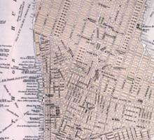 Vintage Map of New York City (1884) Sticker