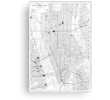 Vintage Map of New York City (1911) Canvas Print