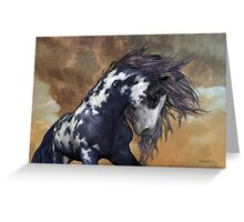 Storm .. Wild Stallion Greeting Card