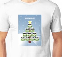 VW Camper Christmas Happy Holidays Unisex T-Shirt
