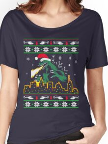 Ugly Christmas Sweater-Style Printed Tee Women's Relaxed Fit T-Shirt
