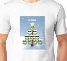 VW Camper Christmas Let It Snow Unisex T-Shirt