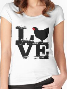 Love and bird t-shirt Women's Fitted Scoop T-Shirt