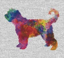 French Water Dog in watercolor Baby Tee