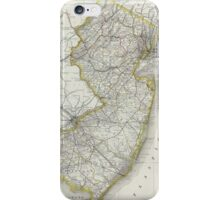 Vintage Map of New Jersey (1889) iPhone Case/Skin