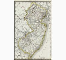Vintage Map of New Jersey (1889) T-Shirt