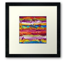 Colorful Pastel Abstract Art Framed Print