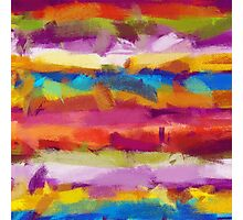 Colorful Pastel Abstract Art Photographic Print
