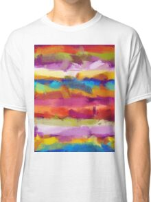 Colorful Pastel Abstract Art Classic T-Shirt