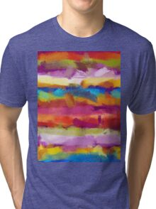 Colorful Pastel Abstract Art Tri-blend T-Shirt