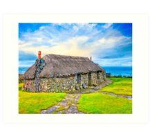Wee Cottage On The Isle of Skye - Scottish Highlands Art Print