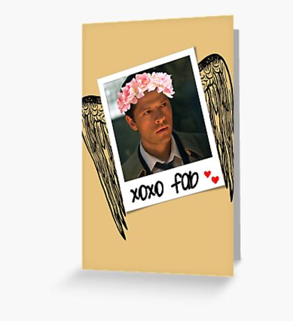 Castiel is so fab. Greeting Card