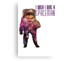 I wish I was a spaceman- Nebula print Canvas Print