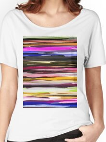 Watercolor Colored Abstract Background Women's Relaxed Fit T-Shirt