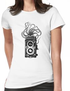 Rolleiflex Camera with octopus Womens Fitted T-Shirt
