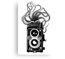 Rolleiflex Camera with octopus Canvas Print
