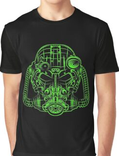 Power Wireframe Green Graphic T-Shirt
