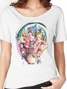 World of Ghibli Women's Relaxed Fit T-Shirt