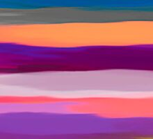 Watercolor Multicolor Abstract Background Sticker