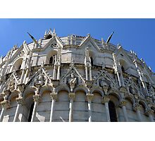 Detail of the Baptistery building in Piazza dei Miracoli Square of Miracles, Pisa, Tuscany, Italy Photographic Print