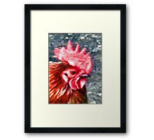 Head of a Rooster Framed Print