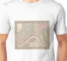 Vintage Map of New Orleans (1880) Unisex T-Shirt