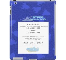 Space Mountain Fastpass iPad Case/Skin