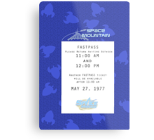 Space Mountain Fastpass Metal Print