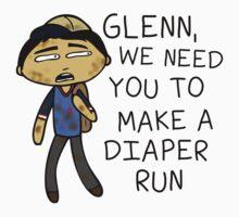Glenn Make A Diaper Run One Piece - Long Sleeve