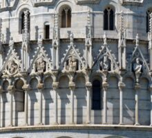 Detail of the Baptistery building in Piazza dei Miracoli (Square of Miracles), Pisa, Tuscany, Italy Sticker