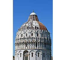 Detail of the Baptistery building in Piazza dei Miracoli (Square of Miracles), Pisa, Tuscany, Italy Photographic Print
