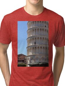 Leaning Tower in Piazza dei Miracoli (Square of Miracles), Pisa, Tuscany, Italy Tri-blend T-Shirt