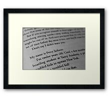 My name is Percy Jackson. Framed Print