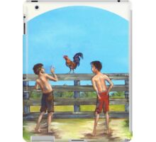 Red Neck Cock Fight iPad Case/Skin