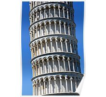 Leaning Tower in Piazza dei Miracoli (Square of Miracles), Pisa, Tuscany, Italy Poster