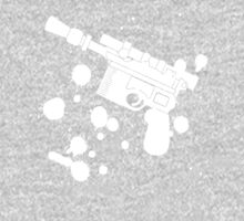 Han Solo Blaster Paint Splatter (White) One Piece - Long Sleeve