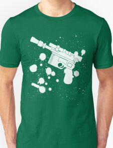 Han Solo Blaster Paint Splatter (White) T-Shirt
