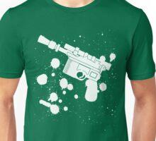 Han Solo Blaster Paint Splatter (White) Unisex T-Shirt