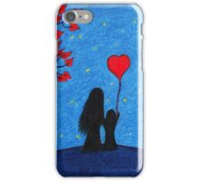 Mother Daughter Love: Mother and Child with Heart iPhone Case/Skin